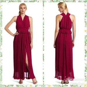 Shelby Maxi Peplum Pleated Dress